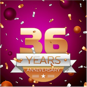 Celebrating 36 Years in Business Anniversary