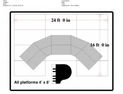 fundraising event, event schematic, stage